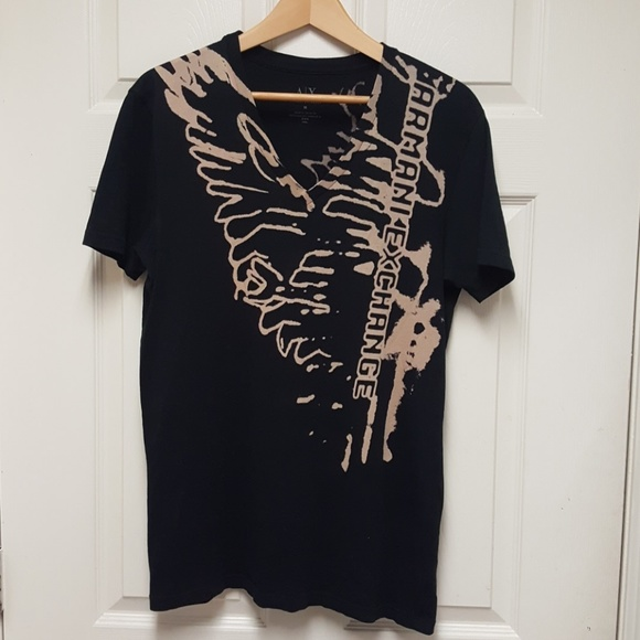 Armani Exchange Other - Armani Exchange Black V Neck Tee Shirt Size Medium